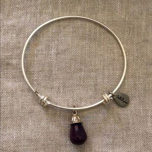 Bella Ryann Silver/Dk.Purple expandable bangle